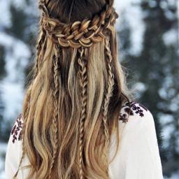 brownhair blondehair braids longhair hairstyle clips snapchat screenshot crown winter snow girl hair hairart hairdo hairedit