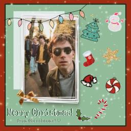 blur blurband damonalbarn grahamcoxon alexjames daverowntree christmas edit fandom freetoedit