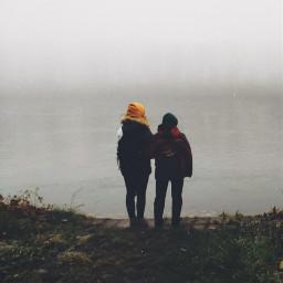 foggyday friends rhineriver freetoedit