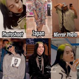 collage edit billieeilish billie eilish photoshoot vogue japan takashimurakami mirrorphoto mirror paparazzi talkshow jimmyfallon musicvideo thereforeiam photos nohateclub positivepa