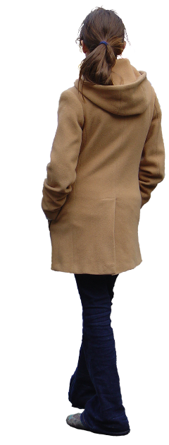 woman girl winter coat back freetoedit