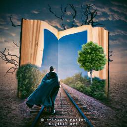 surreal surrealism railway madewithpicsart photomanipulation freetoedit