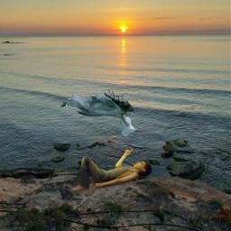 myphotohraphy landscapes amanecer allpicsarttools spain torre alicante dawn spiritwoman man freetoedit