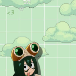 tsuyu myheroacademia bokunoheroacademia froppy anime greenaesthetic tsuyuasui freetoedit