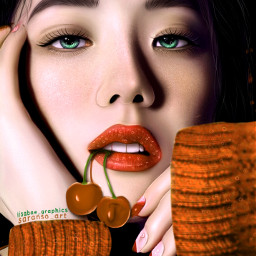 jisoo jisooedit kimjisoo edit art artistic cherry ibispaintx blink blackpink blackpinkjisoo orange cristmas fanart freetoedit