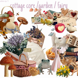 aesthetic niche cottagecore cottage core garden fairy flowers books animals cute beautiful mushrooms frog sweets berries honey bees butterfly moth apple atia episode1