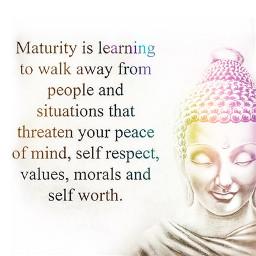 maturity positive love peaceofmind selfrespect value morals selfworth buddha buddhaquotes