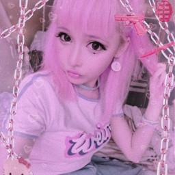 chain corrente pink aesthetic vaporwave rosa translucide egirl girl kawaii cute japan harajuku fofo hellokitty elfgutz melaniemartinez crybaby freetoedit