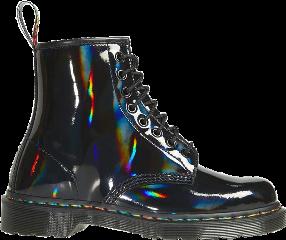 alternative alt altfashion boots shoes4fashion shoes combatboots blackboots black holographic holographicaesthetic aesthetic fashion clothes goth punk emo gothfashion emofashion punkfashion holo rainbow shiny freetoedit