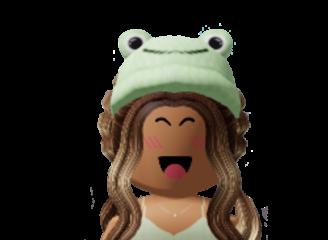 roblox aestheitc bloxburgmom frog hat cute sticker lucyfmallon freetoedit