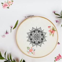 embroideryremix embroidery aesthetic flowers mendala pink challenge floweraesthetic helpmewin freetoedit ircdesignanembroideryhoop designanembroideryhoop