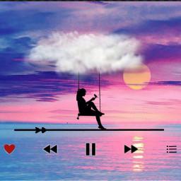 silhouette plage girl sun water freetoedit srcmyfavoritesong myfavoritesong