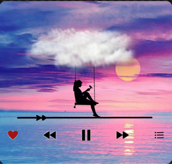 #silhouette #plage #girl #sun #water