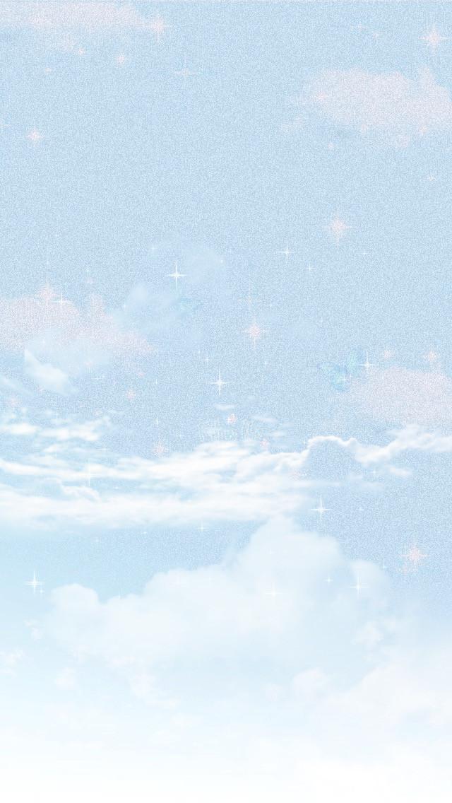 #freetoedit #sky #clouds #blue #sparkle #editedbyme #edit #heypicsart #trending #fypシ