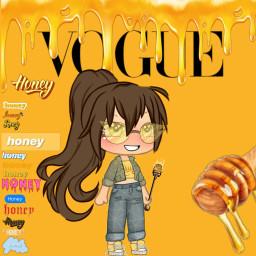 honey clothes animegirl picsart yellow freetoedit