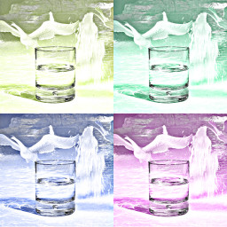 poparteffect glass water collage swans fountain doubleexposure hdreffect pastel freetoedit ircglassofwater glassofwater