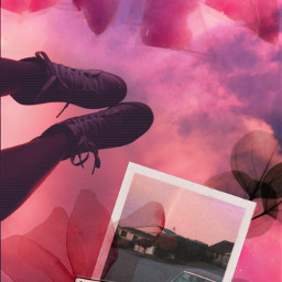 freetoedit pink cottoncandy candy pinkaesthetic polaroid flowers