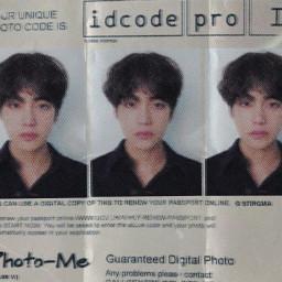 taehyung bts identity id card mugshot realistic cybercore core