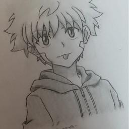 killua killuazoldyck anime animeboy hxh hunterxhunter zoldyck zoldyckkillua