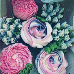 birthdaycake cupcake floral dessert edible