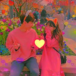 ulzzang aesthetic colorful couple cute  ᴱᵈⁱᵗˢ freetoedit cute