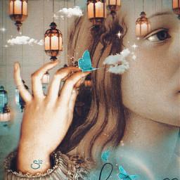 art beauty renaissance butterflies blue magical dreamy stestyle ste2021 madewithpicsart love