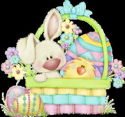 chicken bunny rabbit easter egg freetoedit
