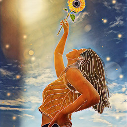 summer sunflower sunny outlineart tanktop freetoedit