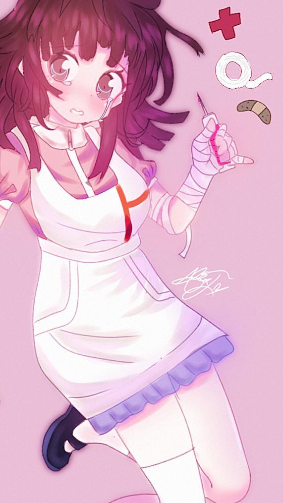 nurse gf- m,,,,,mikan tsumiki,,,,, 🤲💗   she makes me go lesbian   #mikan #mikanstumiki #danganronpa2goodbyedespair