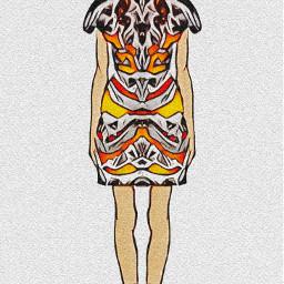 dubravka_m dubravka_m_art fashionable sketch fashionsketch illustration illustrationfashionsketch fashiongirl dasmodel indians danceofworriors