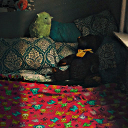 bed bedroom shhh sleepy sleepytime teddybear freetoedit