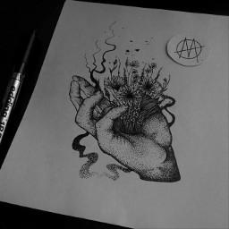 omliya art tattoo blackart graphic freetoedit