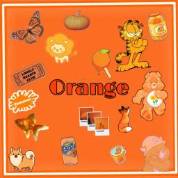 orange colors orangeaesthetic freetoedit
