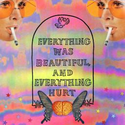 collage freetoedit hippie 70svibes 70s slaughterhousefive trippy