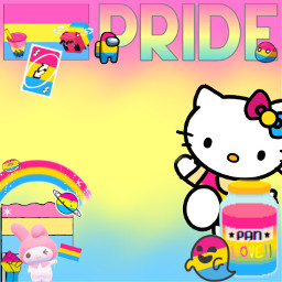 pansexual pan pride lgbt lgbtq sanrio mymelody hellokitty amongus minecraft rainbow bobatea bubbletea freetoedit