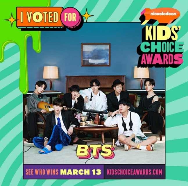 Hello I'm back!!!   I sorry I wasn't active for a while I feel really bad  My phone very bad and low on space and also got grounded     So sad    Anyway if you see the link at the bottom of the picture   You see link it kidschoiceawards.com   If you type you will vote   If u want    Well bts and blackpink are in a few categories but plz choose bts I want to watch it and see bts win all  And some categories bts and blackpink are together but plz pick bts  Thank u    Taglist     @lunaluluxoxo  @shushu_love-  @thatmultistanbitch  @_sheep_garden_  @ugcelesteuwu  @jianna_hi  @weebykpopthingy  @i_stan_gayteen  @imakpopmess  @yeonjunsgfriend  @bilqis_herlita  @softxyuzeyu  @lachibolala-official  @leelalalia  @taetaebtsarmy10  @-crxstalites  @linnyliny  @niki-support-bot  @cookybtsarmy  @mseesaw4__  @yourlittletzukook  @bunnyyeon_  @draw_art_4u  @cherrybllossoms  @_mochibunny_  @ughiee  @s18674035  @j12597  @btsferv  @tvoymember     BYE