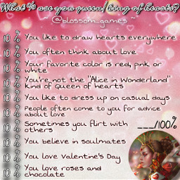 freetoedit remixit new game blossomgames template bored blossom aboutme quiz meetme wouldyourather valentine valentinesday love thisorthat choose romantic hearts pink red areyou queen queenofhearts percent