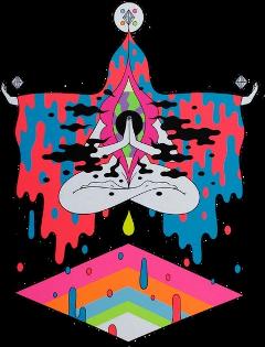 trippy space spaceaesthetic aesthetic colors vivid spiritatual freetoedit