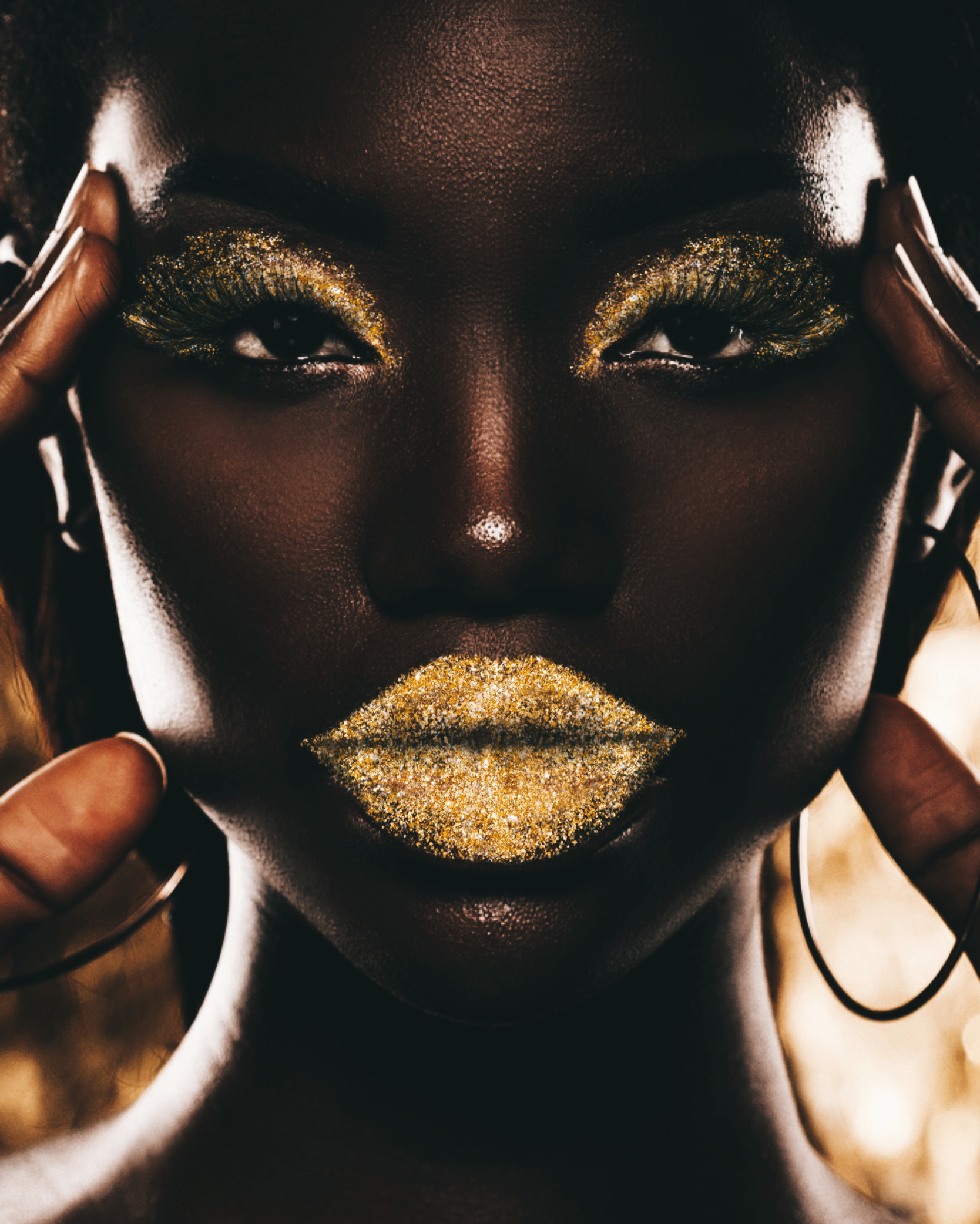 Inspired by PicsArt creator Namafu ✨ #glitter #glittermakeup #gold #goldglitter #freetoedit