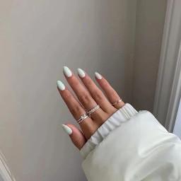 nails pretty white shoutout comment follow like