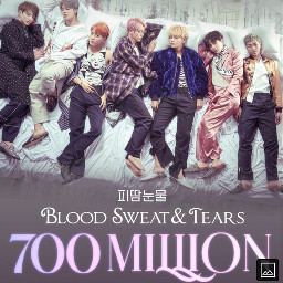 700millionsviews bloodsweatandtears bts