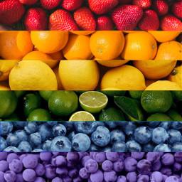 background rainbow gayflag fruit gay flag pride lgbt lgbtq freetoedit