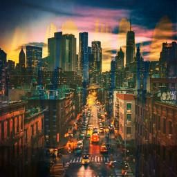 tiedir exit city clouds blues rain ectie-dye tie-dye freetoedit