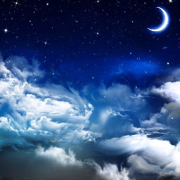freetoedit moon clouds couldy blueaesthetic remixme background