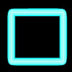 freetoedit neon glow blue square