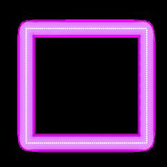 freetoedit neon glow pink square