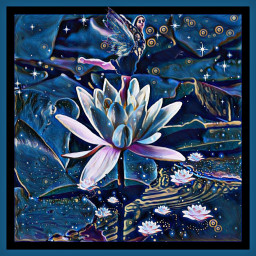 fary flover blue water 💙 freetoedit picsart
