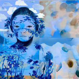 freetoedit blueheart bodyart abstractart portraitart surrealism fadetoblue storybookart remixedbyme