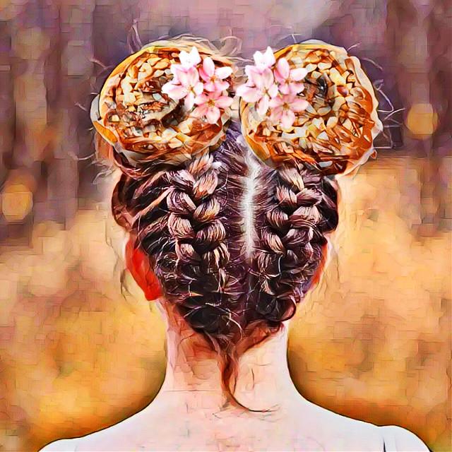#spacebuns #cinnamonrolls #cinnabon #delightfuldesserts #delectabletreats #bakeddesserts #flowers #braidedhairstyles #cutehair