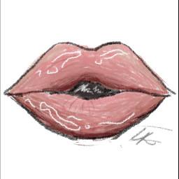 freetoedit lips procreate procreatedrawing firsttime lipsdrawing cute idfk